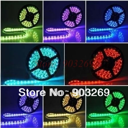 5M DD04-W LED Strip DC 12V 55W 5050 Waterproof 300 LED Strip Light ,Outdoor,Holiday,Discount Ship