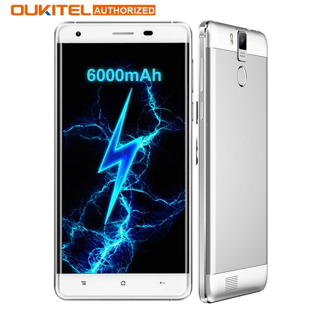 Original OUKITEL K6000 Pro 4G Smartphone MTK6753 Octa Core Android 6.0 3GB RAM 32GB ROM 5.5'' Screen 13.0MP 6000mAh Mobile Phone