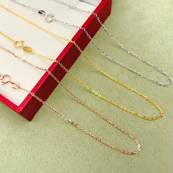 SHILOVEM 18 k oro collana belle Gioielli delle donne di nozze pianta del commercio all'ingrosso di nuovo regalo xl001