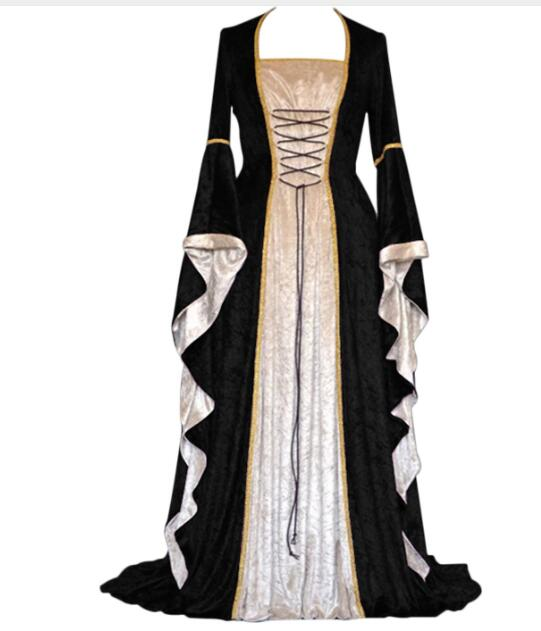 xxl xxxl  plus size drop shipping Drop shipping Medieval Costumes Full Sleeve Renaissance Gown Princess Costume For Women Hallow