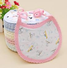 Fashion 100% Cotton Newborn Baby Infant Bibs Waterproof Bib Burp Cloth For Girls And Boys Double Side Baby Toddler Scarf D306
