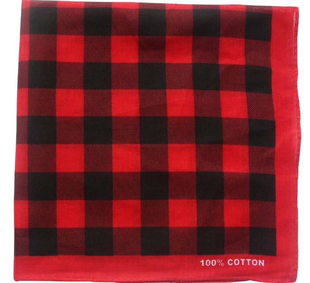 Free Shipping 2018 New Fashion Cotton Red Black White Plaid Turban Bandana Headwear For Men Women