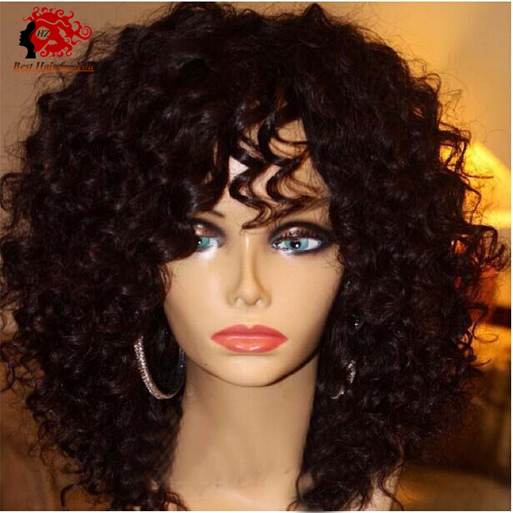 Top Quality Virgin Brazilian Front Lace Wigs Full Lace