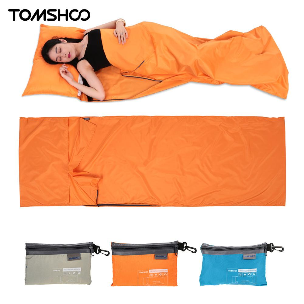 Ultralight Design Outdoor Sleeping Bag 70 * 210cm Camping Hiking Bag Liner Portable Folding Travel Bags 3 Colors