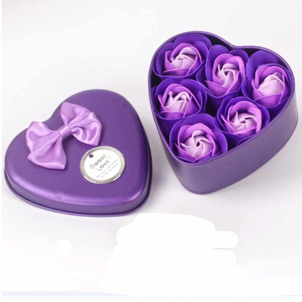 3/6 Pcs Heart Scented Bath Body Petal Rose Flower Soap Wedding Decoration  2019 hot sale party Flavor Gift #0110 A1#