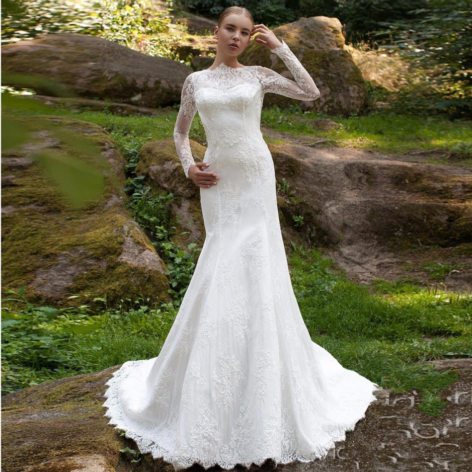 China Long Sleeves Wedding Dress Custom Made Lace Princess: Popular Romantic Beach Wedding Dresses-Buy Cheap Romantic