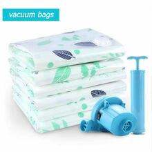 Космические вакуумные пакеты для хранения VAC мешок пыленепроницаемый многоразовый вакуумный уплотнительный Мешок вакуумный компрессионный мешок