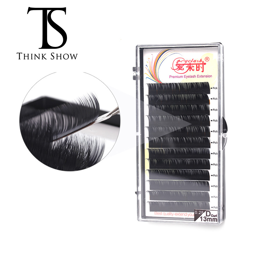 NEWCOME All Size False Eyelash Extension Individual Eyelashes Natural Eye Lashes Extension Korea Silk Lashes Soft Material