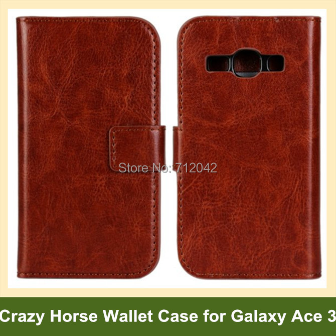 Cool Crazy Horse Pattern PU Leather Folding Wallet <font><b>Flip</b></font> <font><b>Cover</b></font> Case <font><b>for</b></font> <font><b>Samsung</b></font> <font><b>Galaxy</b></font> <font><b>Ace</b></font> <font><b>3</b></font> <font><b>S7272</b></font> S7270 Free Shipping image