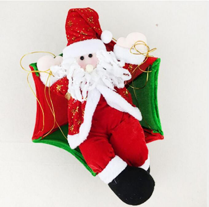 Christmas Home Ceiling Decorations 30cm 70cm Parachute Santa Claus New Year Hanging Pendant Decoration Supplies In Drop Ornaments From