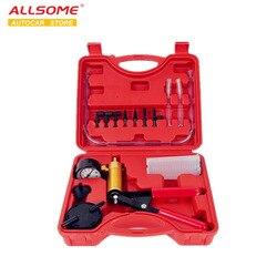 Ручной насос ALLSOME HT1190 для тормозной жидкости, инструменты для подводки, вакуумный пистолет, тестер, алюминиевый корпус насоса, вакуумный ман...