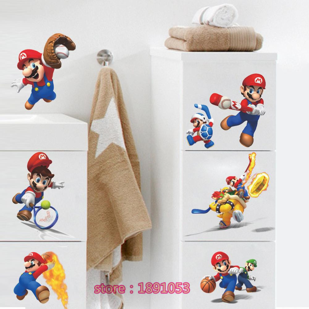 the new animation game design wall sticker baby room decoration