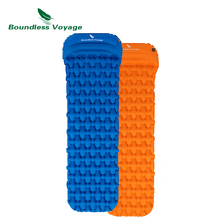Boundless Voyage Inflatable Mat with Pillow Outdoor Camping Single Air Mat Tent Sleeping Pad Hiking Thick Moisture-proof Cushion