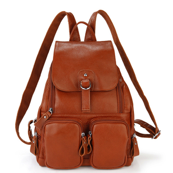 2016 New arrival head layer of cowhide women backpacks fashion genuine leather girl's school back pack shopping shoulder bags