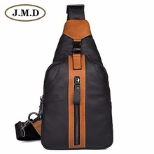 J.M.D Genuine Cow Leather Mens Chest Bag New Design Small Sling 4007-