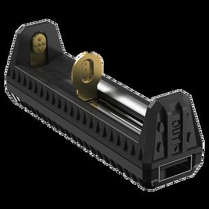 Image 2 - Nitecore f1 carregador de bateria inteligente, carregador de bateria micro usb original, flexível para li ion/imr 100% 26650 18650 bateria
