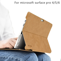 Tablet Surface Pro 5 Case Oil Wax Genuine Leather Stand Holder Keyboard Protective Cover for Microsoft Surface Pro 6 Pro 4