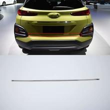 Car body kits rear door moulding trims Stainless Steel  Pedal Sticker For HYUNDAI ENCINO/KONA