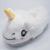 Invierno de Los Niños Zapatillas Para Niños Muchachos de Los Bebés de Dibujos Animados Unicornio de Peluche Zapatillas Con Tacón Cerrado Adultos Inicio Chanclas