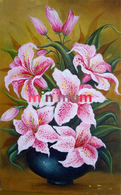 AliExpress & US $8.09 |DIY Full Diamond Flower Vase Painting Embroidery Cross Stich Diamond Painting Mosaic Painting For Home Decor Needlework-in Diamond Painting ...