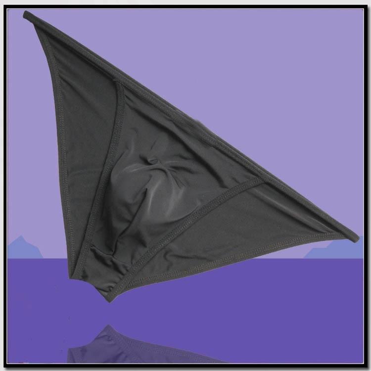 2017 Mens Comfortable Tanga String Bikini Bulge Pouch Ice Sikly Ice Silky Bikini Underwear Size M/L/XL