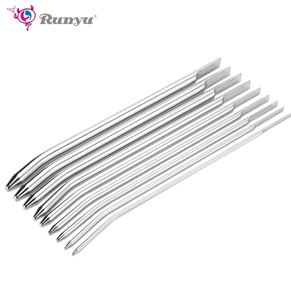 Buy Smooth Head Stainless Steel Catheters Urethral Dilators Urethral sound Sounding Penis Plug Stretching Sounds Male Private Goods