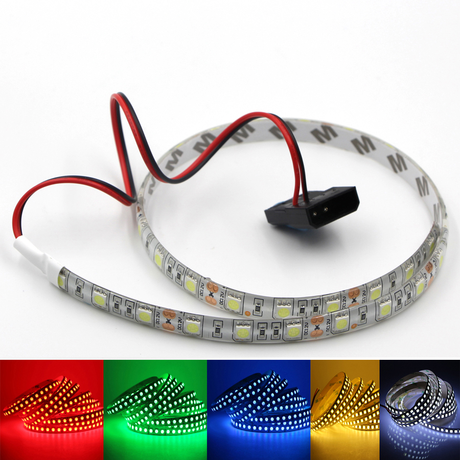 5050 smd flexible led strip light 12v dc background pc computer case adhesive strip light. Black Bedroom Furniture Sets. Home Design Ideas