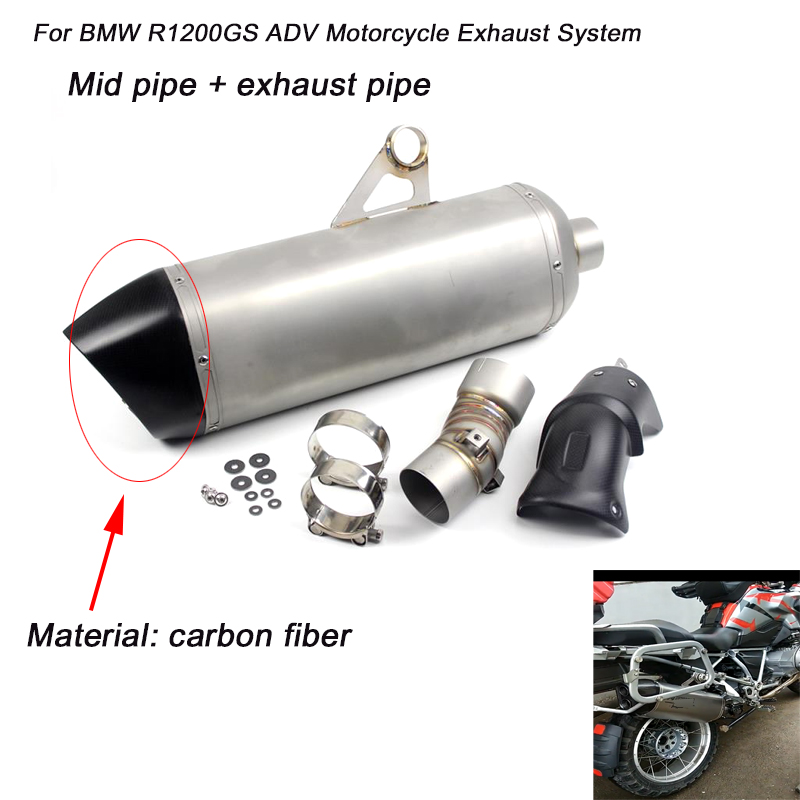 for BMW R1200GS ADV Motorcycle Middle LinK Pipe Exhaust System With Exhaust Muffler Pipe