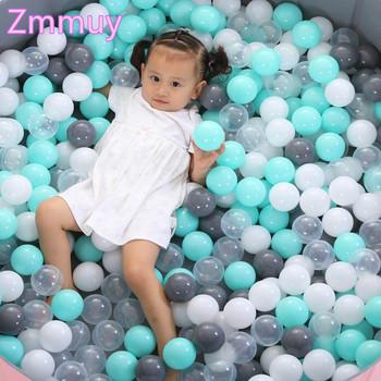 50 sztuk 7cm prezent na boże narodzenie kolorowa piłka miękkie tworzywo sztuczne piłka oceaniczna śmieszne dziecko dziecko dziewczyna chłopiec zabawka Swim Pit basen z wodą fala oceaniczna piłka tanie i dobre opinie Unisex Ball Pits 5 5cm or 7cm Plastic