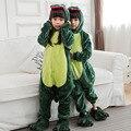 Kigurumi Dinossauro crianças Dinossauro Jurassic Park Dinossauro Pijama Onesie Cosplay Trajes Das Meninas Dos Meninos Animal Dos Desenhos Animados Pijamas Partido
