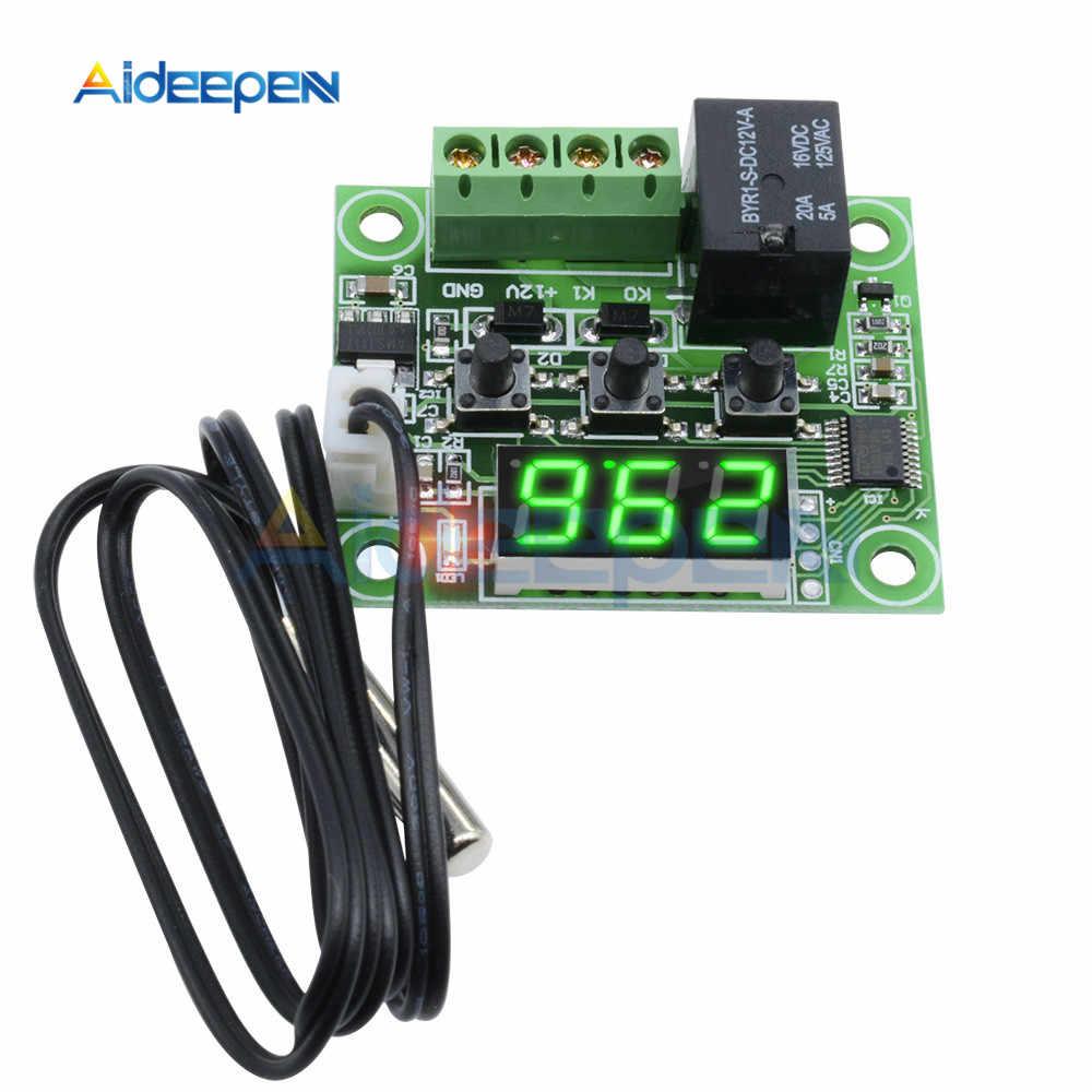 W1209 DC 12V LED Digitale di Calore Freddo Termostato di Controllo della Temperatura Termometro Termo Interruttore di Controllo del Modulo + Sensore NTC Caso
