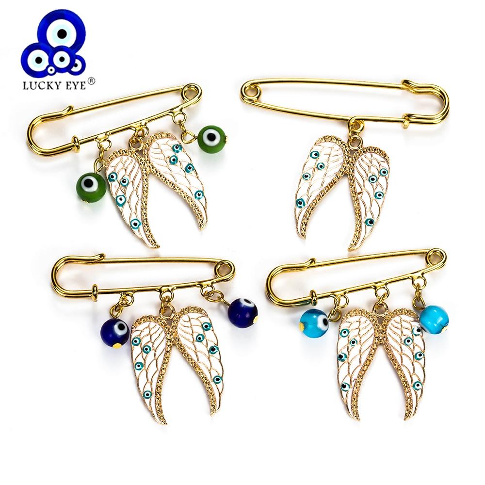 Aliexpress.com : Buy Lucky Eye Angel Wings Charms Brooch