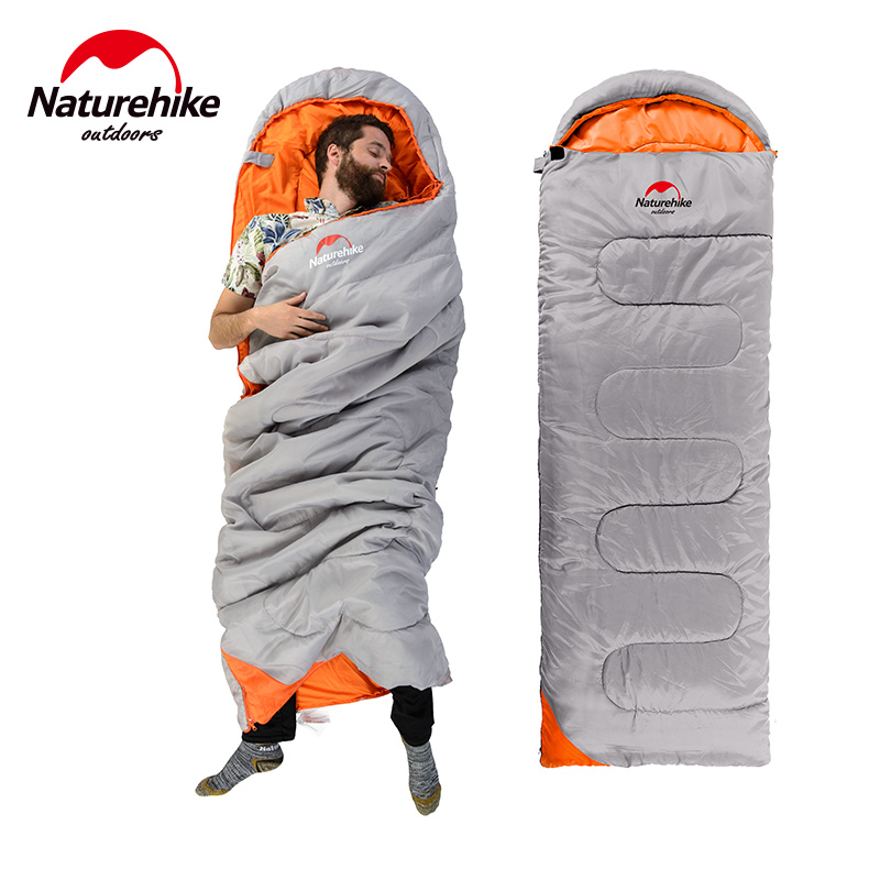 NH Ultralight Camping Sleeping Bag Adult Tents Cotton Filler Envelope Outdoor Warm Spring Autumn Hiking Bags 2.2*0.75M hewolf sleeping bag outdoor cotton lunch break room camping adult spring autumn envelope thickening 2 persons