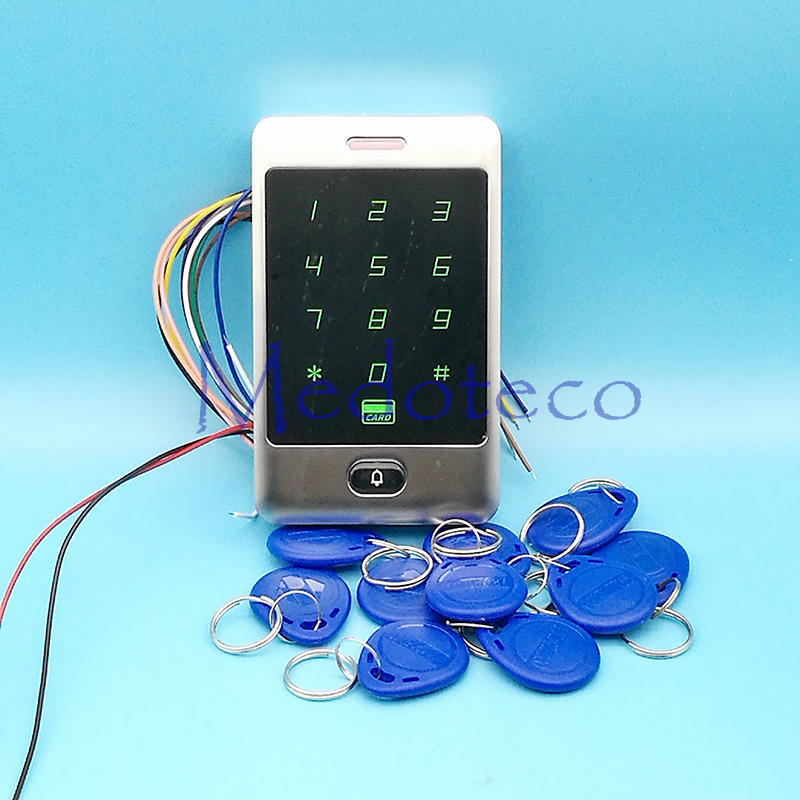 Touch Keypad 125khz RFID Access Control System Proximity Card Standalone 8000 Users Door Access Control Waterproof Metal Case 8 000 users metal case touch keyboard single 125khz rfid door access controller standalone