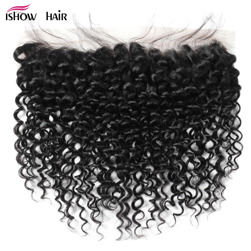 Ishow Mongolian Kinky Curly Hair Lace Frontal Closure Ear To Ear Pre Plucked Frontal With Baby