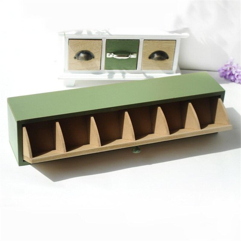 ZAKAKA Green Folder Wooden Decor Garden Storage Boxes ...