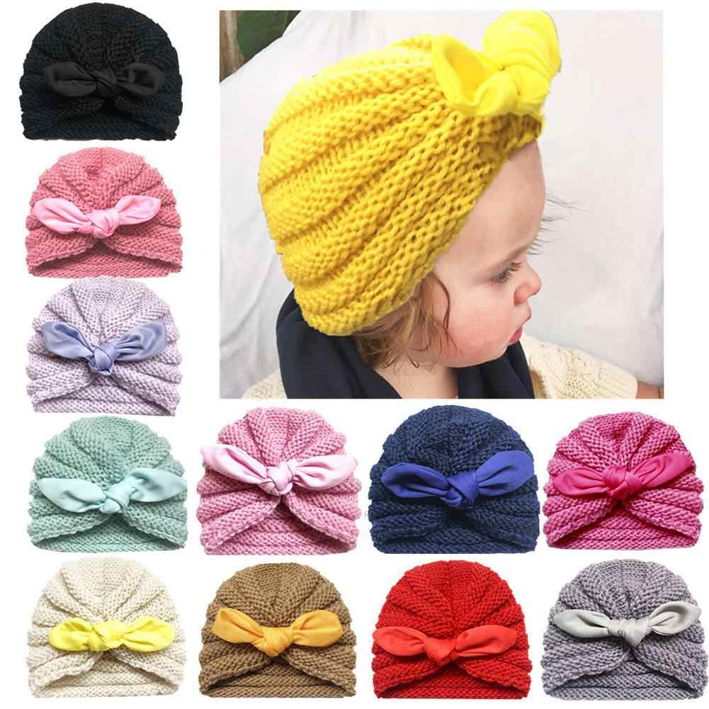 Spring Autumn Baby Hat Baby Hat Knitted Children Hats For Kids Cotton Cap Crochet Solid Children Hat Beanies
