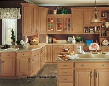 Кухонный шкаф из цельного дерева и дизайн бесплатно (LH-SW006)