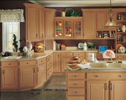 Твердая древесина кухонный шкаф и дизайн бесплатно (lh-sw006)