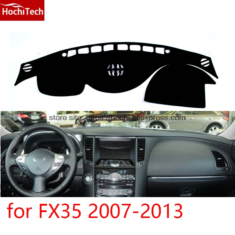 dashboard mat Protective pad Shade Cushion Photophobism Pad car styling accessories for Infiniti FX35 2007 2008 09 10 11 12 2013 for toyota prius 2012 2013 right hand drive dashboard mat protective pad black car styling interior refit sticker mat products