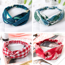 Women  Headband Vintage Cross Knot Elastic Hair Bands Soft Solid Girls Hairband Hair Accessories-in Women's Hair Accessories from Apparel Accessories on AliExpress