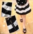 Девочки юбка дети дети черный белый полоса девушки юбки 0330 сильвия 1251315708