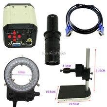 2.0mp HD промышленный микроскоп Камера VGA CVBS USB AV ТВ выходы 10x-180x оптический c-креплением свет регулируемый lift Bracket
