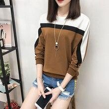 AOSSVIAO 2018 Autumn Winter Long Sleeve T shirt Women Tops Tshirt Women T-shirt O-neck Loose Cotton Tee Shirt Femme Plus Size