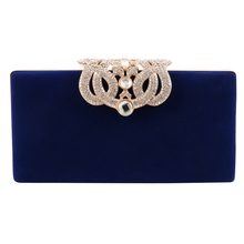цена на Small Women Clutch Crown Diamonds Lady's Evening Bags With Chain Shoulder Purse Red/black/blue Evening Bag