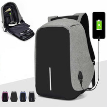 Anti-theft Backpack Bag 15.6 Inch Laptop Notebook Mochila Male Waterproof Back P