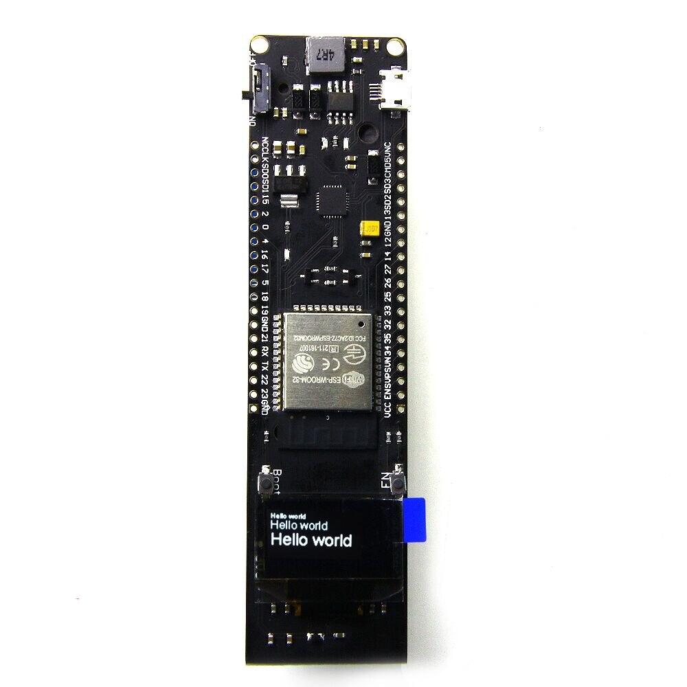 0 96 Inch OLED Display 18650 Lithium Battery WiFi Bluetooth Shield ESP32 ESP 32 ESP8266 CP2102 Module Development Board Module in Circuits from Consumer Electronics