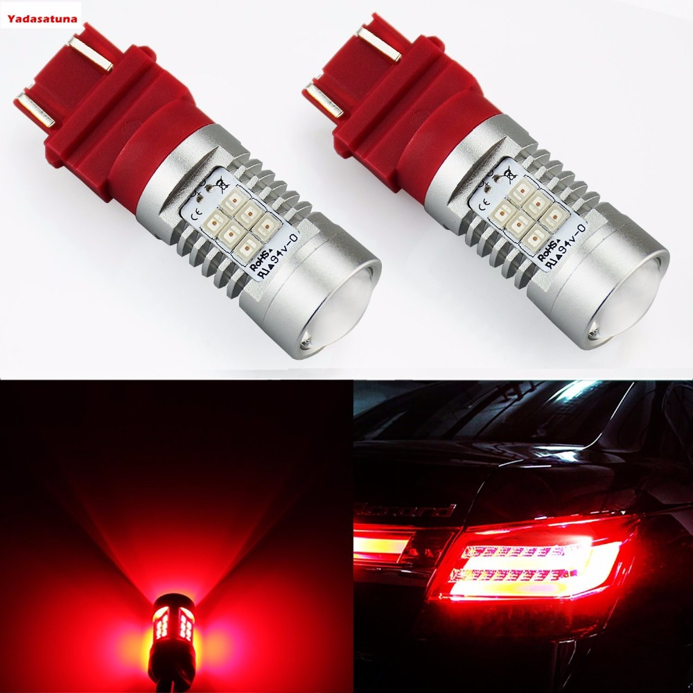 3157 3156 3056 3057 P27/7W Advanced Power 21-SMD LED Bulbs For Stop Lights,Tail lights, Brake Lights - Plug-and-Play - Red auxmart t25 3157 3156 33smd led for jeep