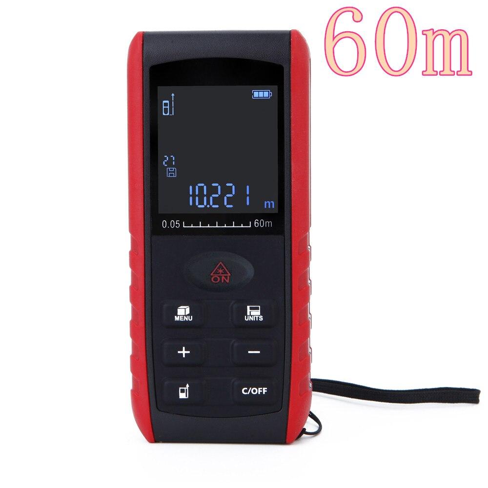 60m Portable Digital Laser Distance Meter Range Finder Area Volume Measurement with Angle Indication  цены
