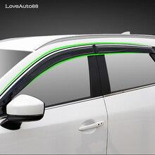 4Pcs Car Window Visor Door Rain Sun Shield Side Windows Cover Trim Auto Accessories For Mazda CX-5 CX5 2013-2019 jinke new 4pcs blade side windows deflectors door sun visor shield for citroen c4 2008